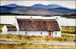 Donegal Cottage: an original watercolor painting of Ireland by Geraldine McKeown