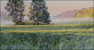 Morning Dew original watercolor landscape by Geraldine McKeown