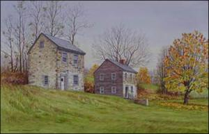 Apple Butter Time: The Beehive at Fair Hill painting by Geraldine McKeown