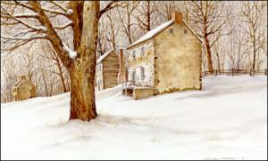 Winter at the Beehive - painting by Geraldine McKeown